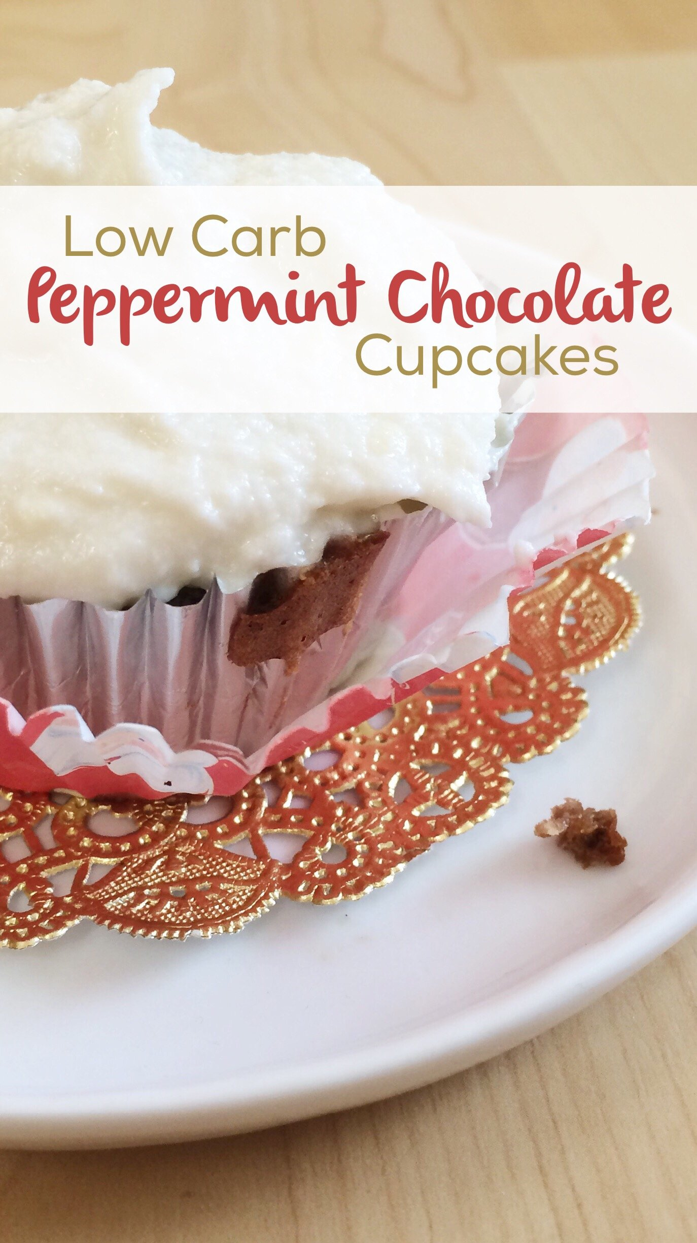 Low Carb Peppermint Chocolate Cupcakes