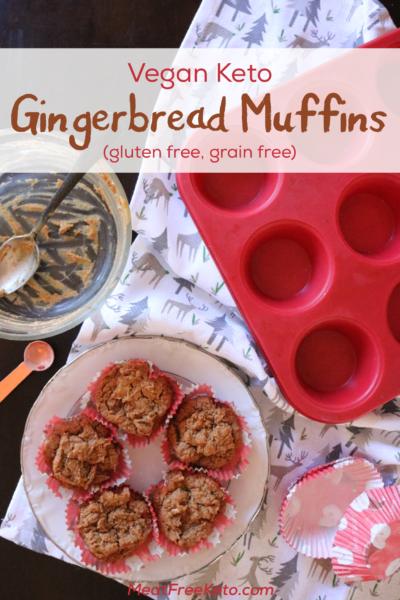 Vegan Keto Gingerbread Mufifns