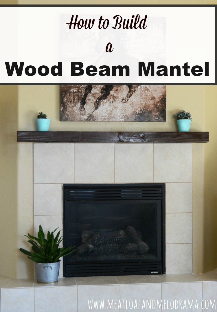 Fireplace Beams Diy Wood Beam Mantel Meatloaf And Melodrama