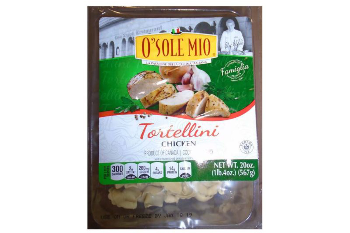 O Sole Mio Cucina Italiana Newberry Fl Imported Chicken Tortellini Recalled Due To Lack Of Inspection