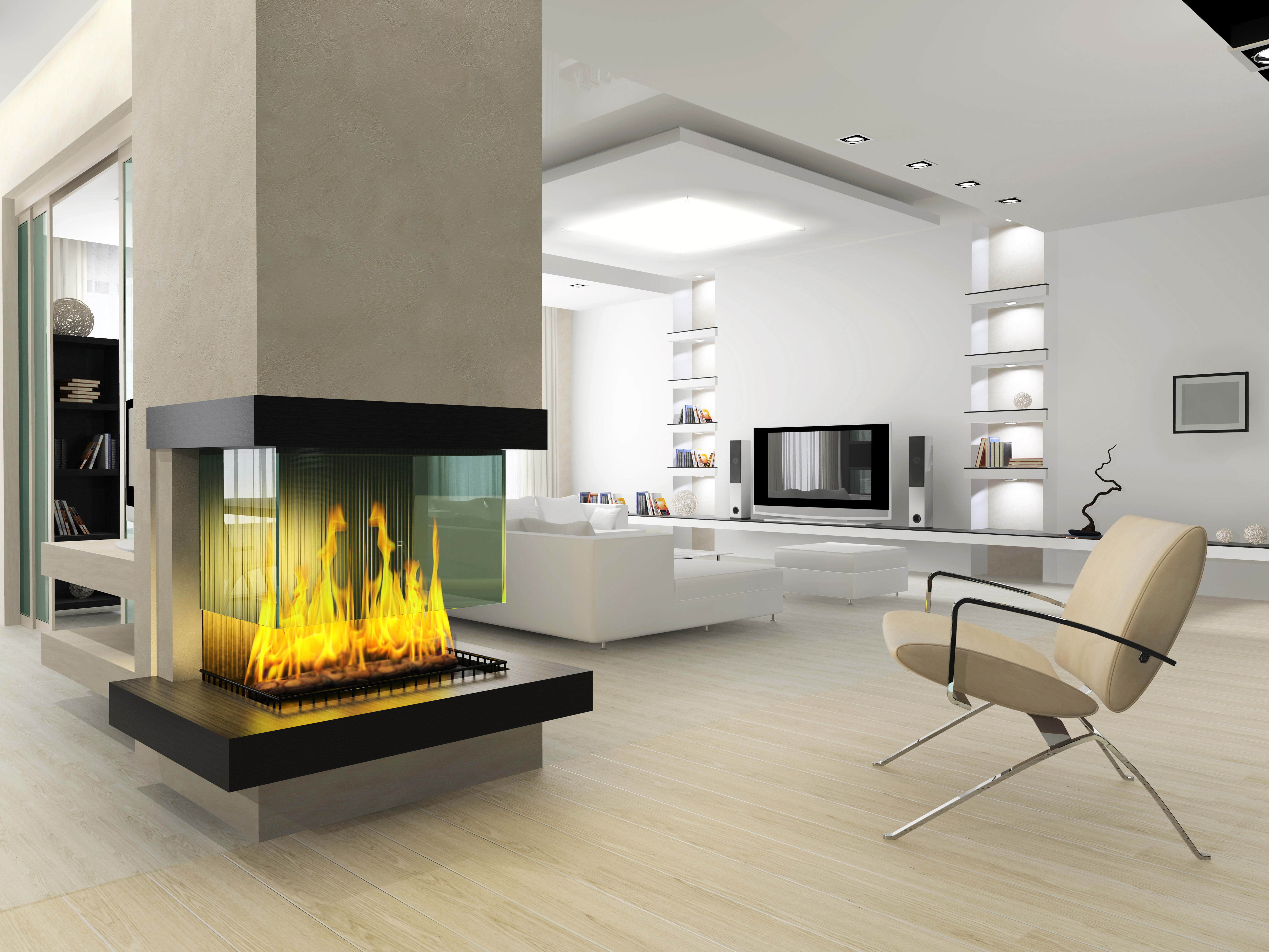 the best stacked stone fireplace interior and furnitures with ideas 7