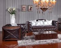 Комплект кожаной мягкой мебели Royal (3+1+1)