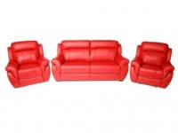 Комплект кожаной мягкой мебели Соренто (3+1+1)