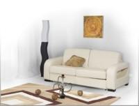 Кожаный мягкий диван раскладной GF 014