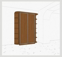 Стандартный шкаф-купе 2-х дверный шк241 к(л)к(п)