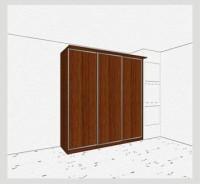 Стандартный шкаф-купе 3-х дверный шк341