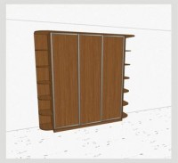 Стандартный шкаф-купе 3-х дверный шк341 к(л)к(п)