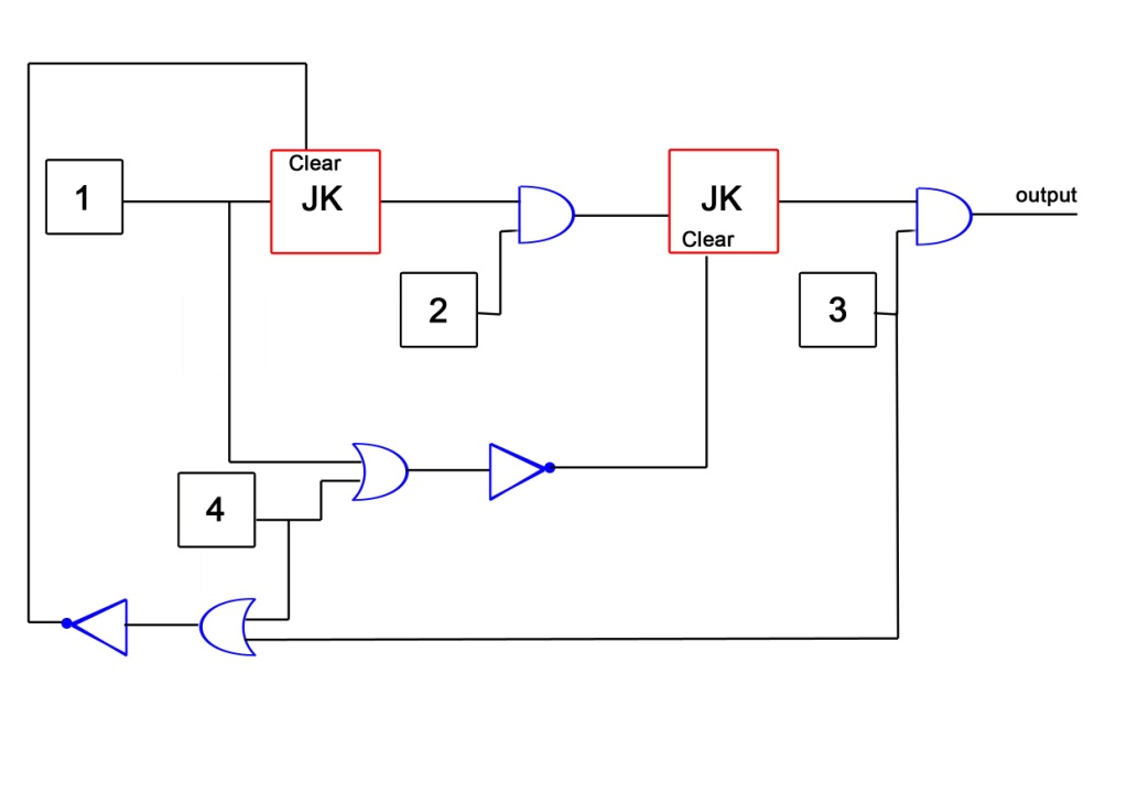 logic circuit using nor gates only