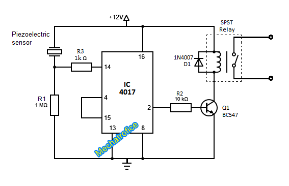touch toggle switch circuit diagram