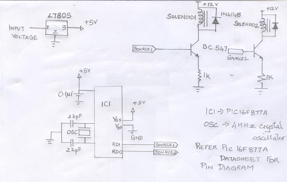 interfacing relay with 8051 microcontroller circuit