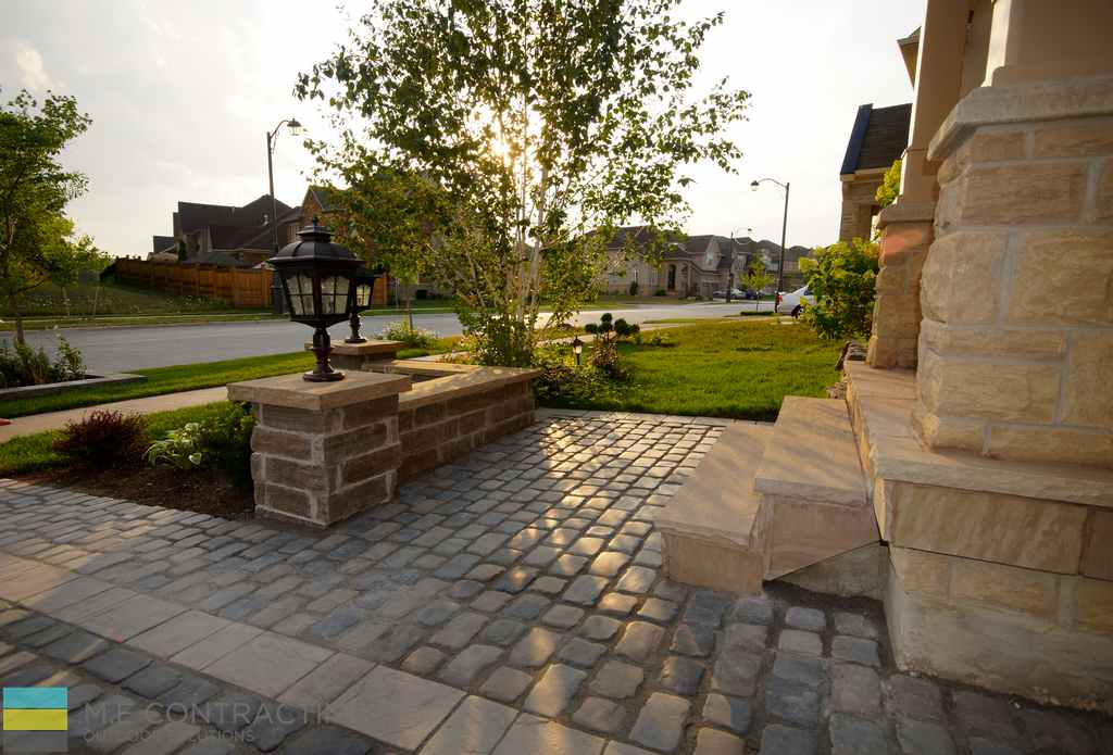 Azek Decking Reviews Interlock Driveway With Softscape And Flagstone Front