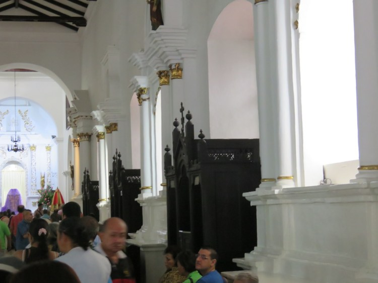 Confessionals along the right aisle