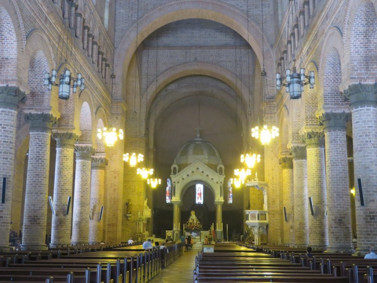 The central nave inside the church