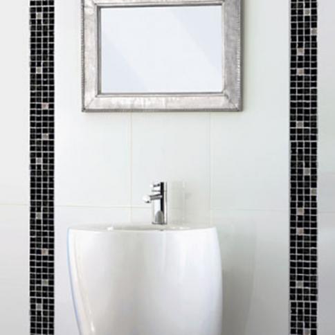 Carrelage de salle de bains Blanc (Mur et Sol) \u2013 Reflex Boutique