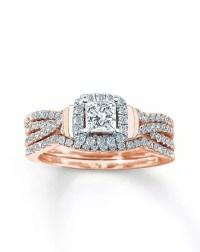 Kay Jewelers DIAMOND BRIDAL SET 1 CT TW PRINCESS-CUT 14K ...