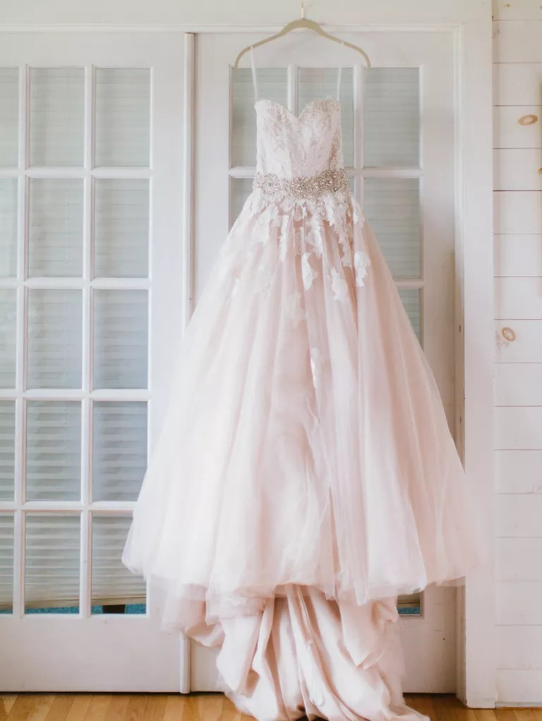 The Prettiest Blush and Light Pink Wedding Gowns - pink wedding photo