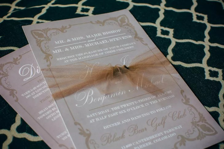 DIY Brown and White Wedding Invitations