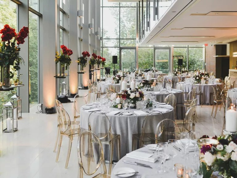 How to Decorate Every Type of Reception Table - wedding reception round tables