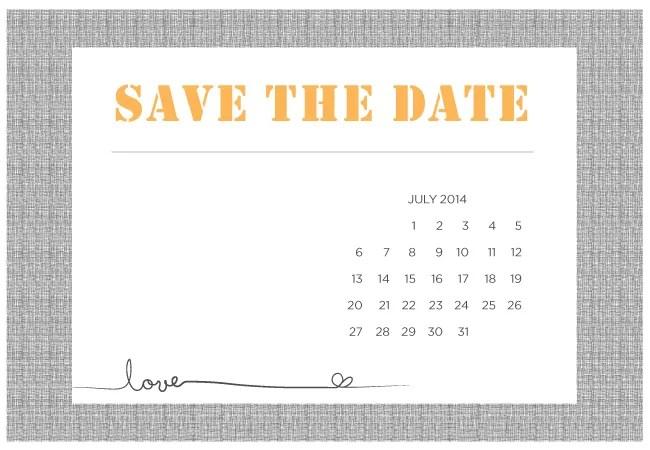 4 Printable DIY Save-The-Date Templates