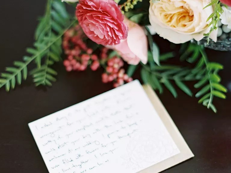 Steps to A Wedding Thank-You Note