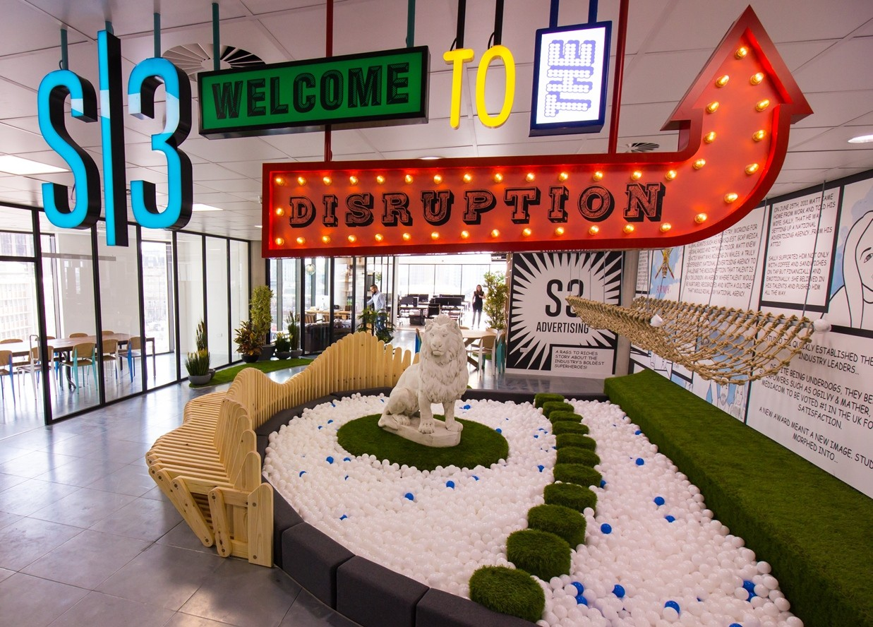 Creative Office Reception Design S3 Advertising Lays Claim To Uk S Coolest New Office The Drum