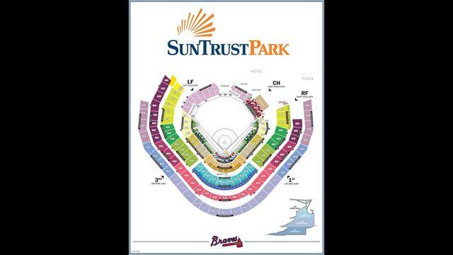 ATLANTA BRAVES SunTrust Park map Seating chart, gates and