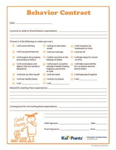 Sample Homework Contract Template | Free Cover Letter Templates ...