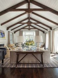 Vaulted Wood-beam Ceiling on Pinterest | 127 Pins