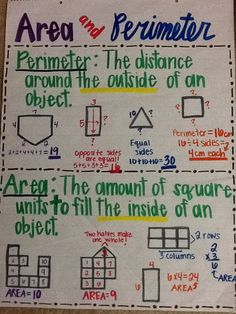 Perimeter and area a