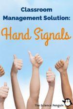 Hand Signals Classroom Management
