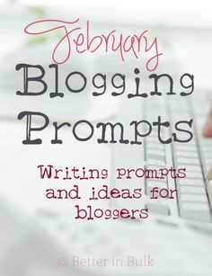 February Blogging Pr