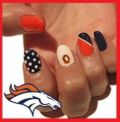 Denver Broncos Nails On Pinterest Denver Broncos Nails