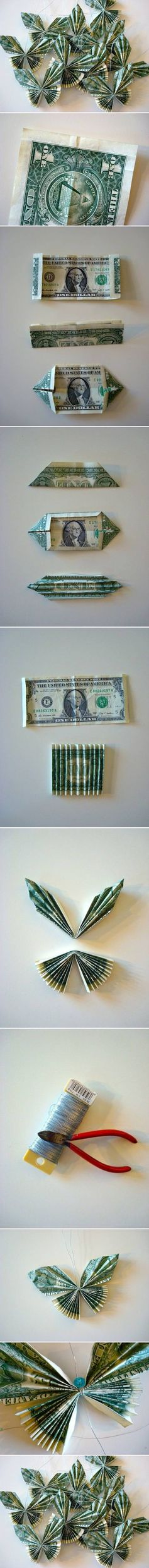 Money Butterfly Origami Picture Tutorial