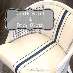 A Chair Reborn of Chalk Paint and a Drop Cloth | The Palette Muse - Highlighted at the #HomeMattersParty 53