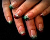 Simply elegant Christmas nails | nails | Pinterest