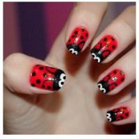 Lady Bug Nails | nail art:) | Pinterest
