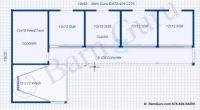 4 Stall Horse Barn Design PLan   Barn ideas   Pinterest