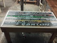Hockey stick cocktail table | Hockey stick chair | Pinterest