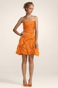Tangerine bridesmaid dress | Weddings | Pinterest