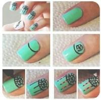 Cute nail design step