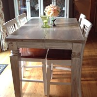DIY Distressed kitchen table.