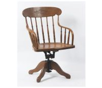 Wooden Swivel Chair
