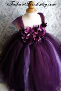 Flower girl dress Deep Purple and Lavender tutu dress ...