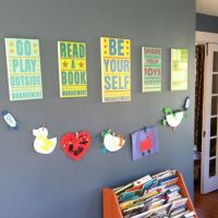 Our playroom wall decor | Decorations | Pinterest