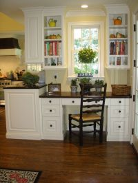 kitchen desk area | Kitchen office | Pinterest