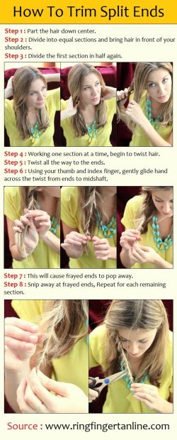 Hair Life hack - How to Trim Split Ends