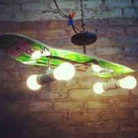 Skate board light fixture Cool! | Surf/Skate | Pinterest