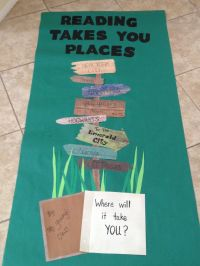 Classroom door decor for reading week! | 3rd grade reading ...