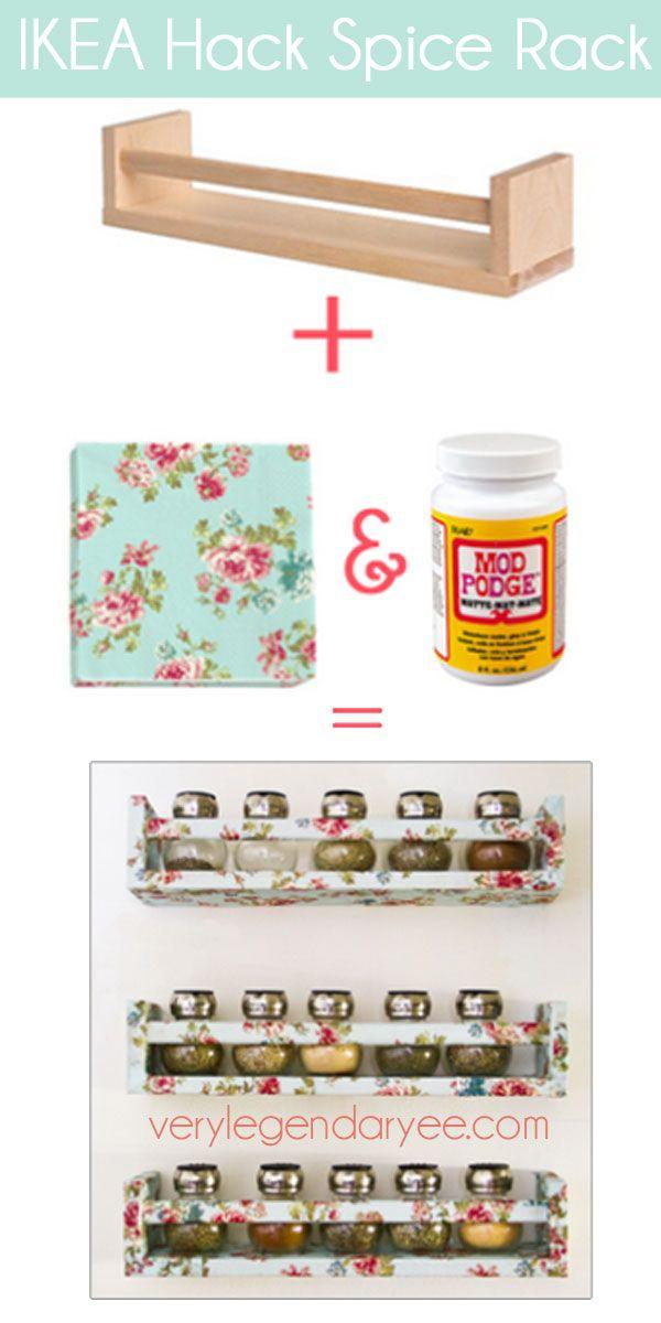 Ikea Spice Rack Hack Verylegendaryeecom Diys Pinterest