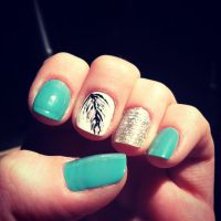 Feather nail design | Nails | Pinterest